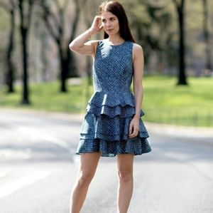 ARMANI EXCHANGE Tiered Fit and Flare Dress 4
